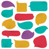Set of special colour  bubble with knitwear texture, vector Royalty Free Stock Images