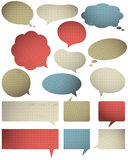 Set of special colour  bubble with knitwear texture, vector Royalty Free Stock Photos