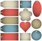 Set of special colour  bubble with knitwear texture, vector Royalty Free Stock Photo