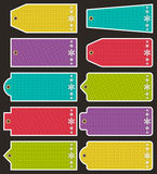 Set of special colour paper labels for christmas, vector Stock Photography