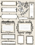 Set of special hand draw labels and banners, vecto Royalty Free Stock Images