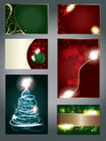 Set of special light effect Christmas Cards Stock Photography
