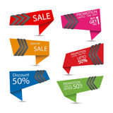 Set of special offer labels. Stock Photography