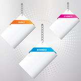 Set of special paper tags Stock Photo