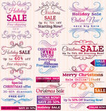 Set of special sale offer labels and banners Royalty Free Stock Photos