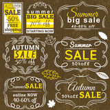 Set of special sale offer labels and banners. Vector Royalty Free Stock Photo