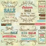 Set of special sale offer labels and banners. Vector Royalty Free Stock Images