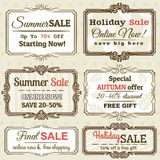 Set of special sale offer labels and banners Stock Photos