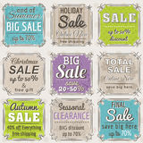 Set of special sale offer labels and banners. Vector Royalty Free Stock Image