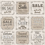 Set of special sale offer labels and banners royalty free stock image