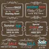 Set of special sale offer labels and banners Stock Image
