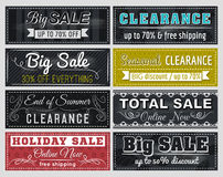 Set of special sale offer labels and banners, vector. Illustration Royalty Free Stock Photos