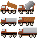 Set of specialized transport. Set of construction specialized transport and lorry Stock Image