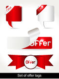 set specialvektor för banerillustrationerbjudande Fotografering för Bildbyråer