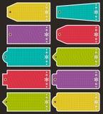Set specjalne colour papieru etykietki dla bożych narodzeń, wektor Fotografia Stock
