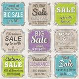 Set specjalnej sprzedaży oferty etykietki i sztandary Obraz Royalty Free