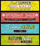 Set specjalnej sprzedaży oferty etykietki i sztandary Zdjęcie Royalty Free