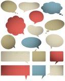 Set specjalny colour bąbel z knitwear teksturą, wektor Zdjęcia Royalty Free