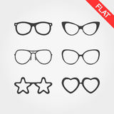 Spectacle Frames And Oval Face Stock Vector Illustration