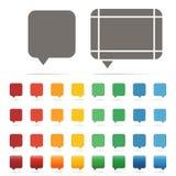 Set of Speech bouble 0001. Set of Speech bouble colorful Stock Photo
