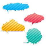 Set of Speech bouble 0003 Royalty Free Stock Images