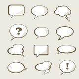 Set of speech bubble Stock Photography
