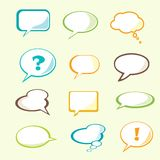Set of  speech bubble. With space for your text Stock Image