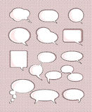 Set of speech bubble. With space for your text Royalty Free Stock Photo