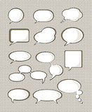 Set of speech bubble Royalty Free Stock Image