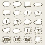 Set of speech bubble. With space for your text stock illustration