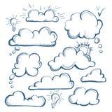 Set of speech bubble. Cloud royalty free illustration
