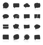 Set of speech bubble icons on white background Stock Images