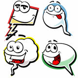 Set of speech bubble with smiling face Royalty Free Stock Photography