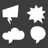 Set of speech bubble. Think cloud symbols. Vector illustration Stock Photos
