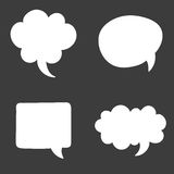 Set of speech bubble. Think cloud symbols. Vector illustration Royalty Free Stock Images