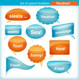 Set of speech bubbles. Royalty Free Stock Photos