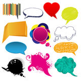 Set of speech bubbles Royalty Free Stock Photography
