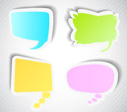 Set of speech bubbles Stock Photography
