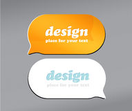 Set of speech bubbles. Stock Photography
