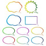 Set of speech bubbles. Set of colorful speech bubbles Royalty Free Stock Image
