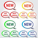 Set of speech bubbles. Set of colorful speech bubbles Stock Photography