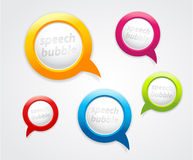 Set of speech bubbles. Stock Images