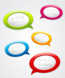 Set of speech bubbles. Stock Photo