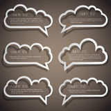 Set of speech bubbles stock illustration