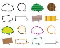 Set of speech bubbles Stock Images