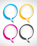 Set of speech bubbles Stock Image