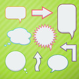 Set of speech bubbles. And arrows royalty free illustration