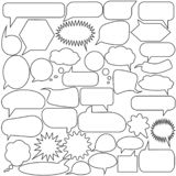 Set of speech bubbles. Blank empty vector white speech bubbles. Cartoon balloon word design. stock illustration