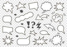 Set of speech bubbles. Set of blank template in Pop Art style. Vector illustration stock illustration