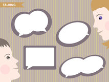 Set of speech bubbles blank templates Royalty Free Stock Images